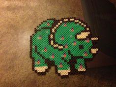 Dino perler bead by on DeviantArt Diy Perler Beads, Perler Bead Art, Diy General, Peler Beads, Hama Beads Patterns, Fuse Beads, Key Chains, Bead Crafts, Ponies