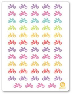 Bicycle (55) Planner Stickers