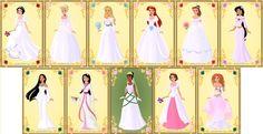 Disney Princesses - Wedding Dresses by ~MissIndianaGirl on deviantART