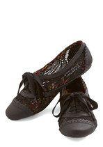 Follow My Footsteps Flat in Black | Mod Retro Vintage Flats | ModCloth.com