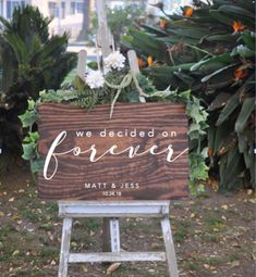 We decided on forever wedding sign rustic wood sign signs Rustic Wood Signs decided Rustic Sign Signs Wedding Wood Rustic Wedding Signs, Rustic Wood Signs, Wedding Signage, Diy Wedding, Wedding Flowers, Wedding Ideas, April Wedding, Wedding Reception, Wedding Venues