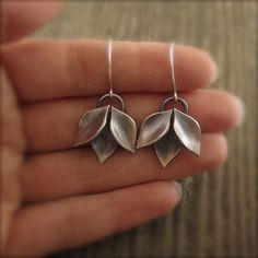 Modular Modern Leaf Cluster Dangle Sterling Silver Earrings by Kelly Gilligan