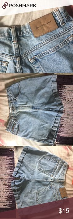 Calvin Klein Shorts These are high waisted, washed out Calvin Klein jean shorts. Calvin Klein Shorts Jean Shorts
