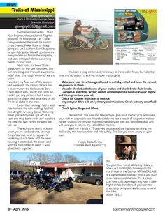 George gives some tips on checking your bike and getting ready for riding season.