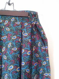Vintage Retro Novelty Print Country Suburban Midi Skirt / Women's Size L/ XL / Vintage Size 18 / Union Made /Made in USA by JulesCristenVintage on Etsy