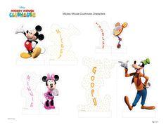 Mickey Mouse Club House Play Set folha Personagens 2