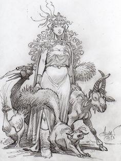 Loisel - La quête de l'oiseau du temps. Great drawing style.