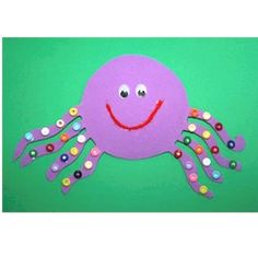 Foam octopus Make your octopus friends by stenciling and adorning fish, sea horses or anything you want with buttons.