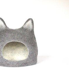 Cat bed  cat cave  cat house  ecofriendly handmade by AgnesFelt, $84.00