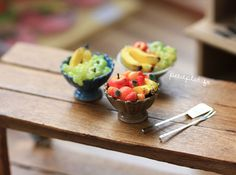 Miniature Food - Fruit Bowls | by PetitPlat - Stephanie Kilgast