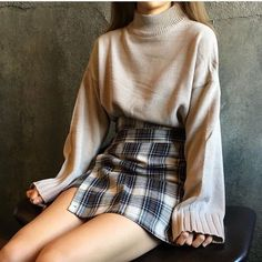 Find More at => http://feedproxy.google.com/~r/amazingoutfits/~3/kBaTVQ7_72M/AmazingOutfits.page #casualskirt #KoreanFashion