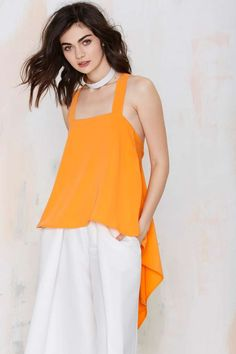 Asilio+Channel+Orange+Asymmetric+Top+|+Shop+Shirts+++Blouses+|+Asilio+at+Nasty+Gal