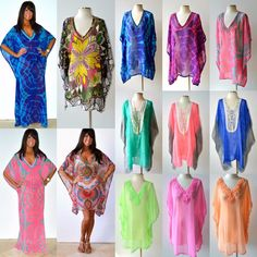 e07f627a75 Details about Taj Mahal Printed Boho Maxi Caftan Kaftan Dress or Cover Up S  M L XL 1X 2X 3X. Beach KaftanChic ...