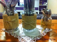 Reciclando potinhos de vidro, inspirações, dicas, potes de vidro, faça você mesmo.