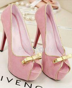 Pink Heels #gold