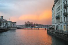 Sunset @ Lac Léman - Genève Switzerland Cities, Lake Geneva, Homeland, Wander, Places To Go, Dreams, Travel, Switzerland, Viajes