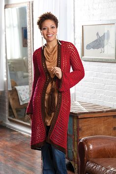 Crochet Long on Looks Cardie by Erika and Monika Simmons
