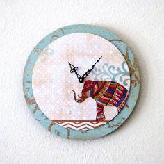 Wall Clock, Elephant Decor, Decor and Housewares, Large Wall Clock, Home and Living, Home Decor, Wall Decor, Unique Clock, Trending. $45.75, via Etsy.