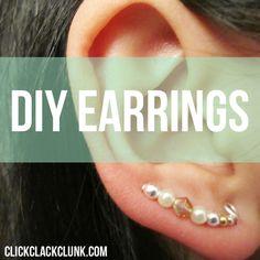 Bobby Pin Earrings | Running Blonde