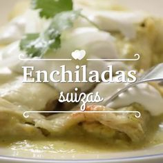 Enchiladas suizas verdes con queso gratinado - Testy Tutorial and Ideas Kitchen Recipes, Cooking Recipes, Healthy Recipes, Healthy Sugar, Cooking Hacks, Think Food, Love Food, Mexican Dishes, Mexican Food Recipes