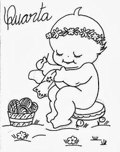 desenho semaninha do bebe para pintar quarta feira