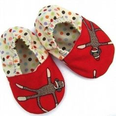 monkey fabric for baby | ... com you ll love these adorable baby shoes they are made from a fun