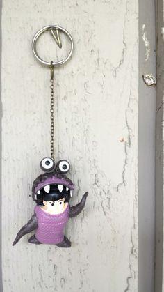 Boo Monsters Inc. Key Chain by ZeeesCloset on Etsy, $5.00