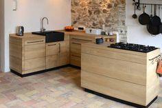 Miniküche im Landhausstil: Diese Modulküche lässt sich individuell anpassen.