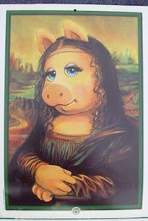 Miss Piggy Mona Lisa