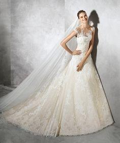 Tamia, vestido de novia de TUL
