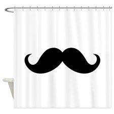 Mustache Movember Ideology Shower Curtain for