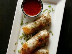 Jarní závitky á la Míša Fresh Rolls, Sausage, Food And Drink, Meat, Vegetables, Ethnic Recipes, Kitchen, Asia, Cuisine