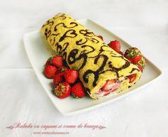 rulada capsuni / Strawberry cake