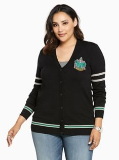 8f6fecf4f98dc Harry Potter Slytherin Cardigan in Black Slytherin House