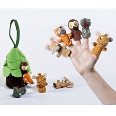 Tell your own version of The Gruffalo using this finger puppet set.