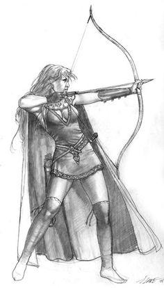 Female Elven Archer - Elmore Masterworks - Miniature Lines