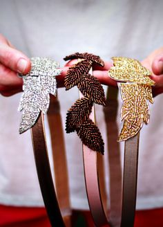Leather Leaves Gold or Bronze Beaded Leaf Headband Bronze Wedding, Gold Wedding, Wedding Accessories, Hair Accessories, Wedding Giveaways, Leather Leaf, Wedding Headband, Wedding Hairstyle, Wedding Dress Trends