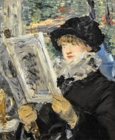 Edouard Manet - Woman Reading, 1880 at Art Institute of Chicago IL