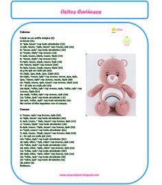 Argirumi Pink Care Bear Crochet