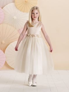 5199a09b5b42 Cheap designer flower girl dresses, Buy Quality flower girl dresses  directly from China vestido de daminha Suppliers: Latest Design Beige Flower  Girl Dress ...