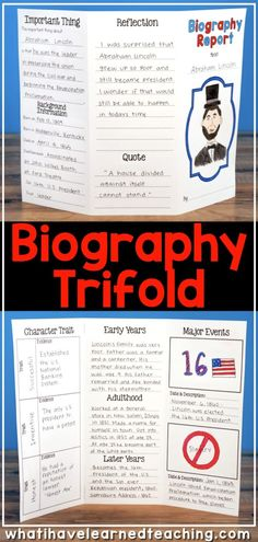 This Biography Report that can be used for any historical person. It is great for a social studies biography unit or reading informational writing and research unit. It includes five different report options, lap book, interactive notebook, and construct 3rd Grade Social Studies, Social Studies Notebook, Social Studies Classroom, Social Studies Activities, Teaching Social Studies, Teaching History, 2nd Grade Social Studies Projects, Classroom Rewards, Teaching Tools