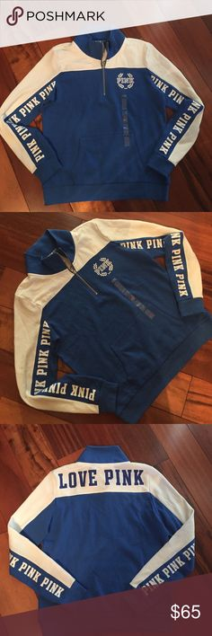 Victoria's Secret PINK half zip sweatshirt Medium NWT PINK Victoria's Secret Tops Sweatshirts & Hoodies
