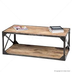 Industrial Coffee Table - Iron - - Milan Direct ohhh love this site and the industrial look! Furniture Styles, Furniture Design, Online Furniture, Home Furniture, Industrial Style Furniture, Commercial Furniture, Creative Storage, Apartment Living, Entryway Tables