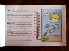 The Inspired Classroom: Weather Journal