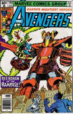 Avengers 1963 1st Series 198 August 1980 Issue by ViewObscura, $8.00
