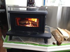 Little Cod wood stove in a renovated 1971 Airstream trailer.  https://mistahlee33.wordpress.com/