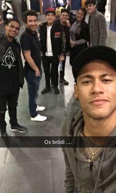 Neymar via snapschat