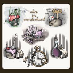 Alice in Wonderland sketches