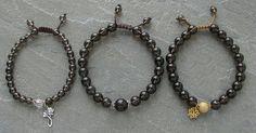 Smokey Quartz Bracelet Mala Prayer Beads