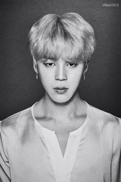 BTS Jimin Black and white